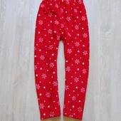 Яркие флисовые штаники для девочки. St.Bernard. Размер 9-10 лет. Состояние: новой вещи