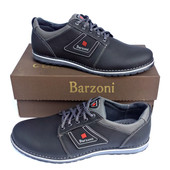 Кожаные спортивные туфли Barzoni №8 чёрные