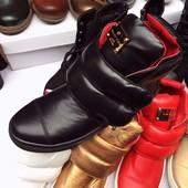 Ботинки в стиле Giuseppe Zanotti. Натуральная кожа
