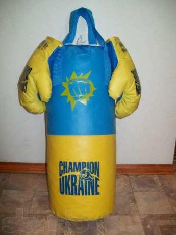 Бокс груша и перчатки большая боксерский набор фото №1