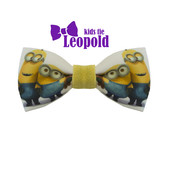 Бабочка -галстук с принтом Миньоны