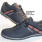 Кожаные мужские туфли от производителя, синего цвета