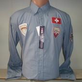 Распродажа! Мужская рубашка с длинным рукавом Vancouver Ski. 4 цвета.