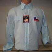 Мужская льняная рубашка с длинным рукавом Polo Club.