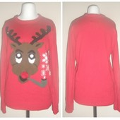 Яркий брэндовый свитер 48-50 р