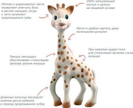 Жирафа софи. оригинал из франции. фото №1