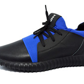 Кроссовки Adidas yeezy 350 boost all-black blue
