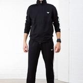 Спортивный костюм Армани черный и серый