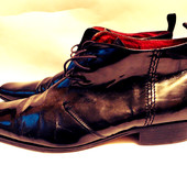 Кожаные туфли Lavorazione artigiana Италия  р.47
