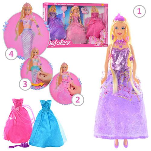 Кукла барби русалка с нарядом defa 8245 фото №1