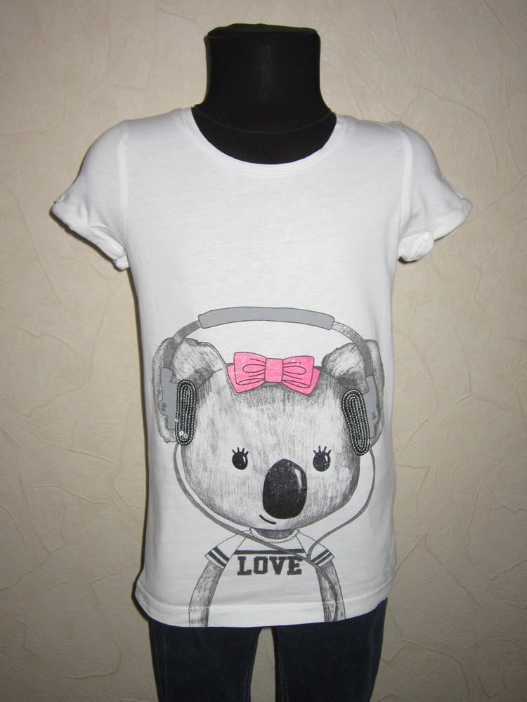 На 6-7 лет стильная футболка debenhams bluezoo девочке фото №1