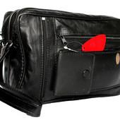 Мужская сумка - барсетка натуральная кожа (svan)