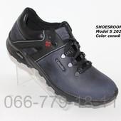 Цена снижена!Мужские кожаные кроссовки Columbia, синие