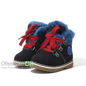 Натуральный мех - овчина. Теплые, легкие ботинки для мальчиков и девочек. Бесплатная доставка!!!