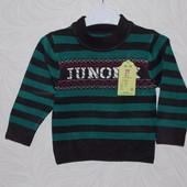 Красивый свитер мальчику разм: 74-80;и 86-92; См. замеры