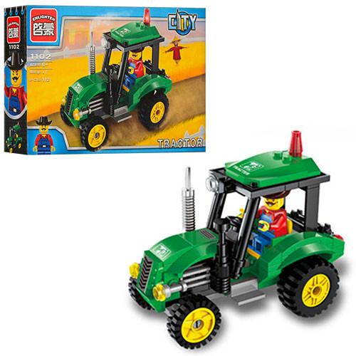 Конструктор трактор brick 1102 фото №1