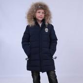 Зимние полупальто для мальчиков Anernuo 130-170 новинки 2017