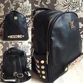 Рюкзак женский городской с большим брендовым значком