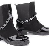 Женские ботинки замшевые  V 1037