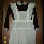 Школьная форма ссср платье с фартуком новая!