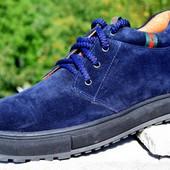 мужские кожаные ботинки деми/зима цвета Код:М 320