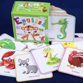 Карточки для изучения мира животных на английском языке серия Step by step издательство Астра