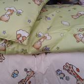 Детское одеяло + подушка на синтепоне, 110х140