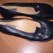кожаные  балетки  ф  Shoe  Colour   Италия  размер  37 -  24.7  см
