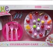 Набор Торт на липучке+посудка