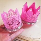 Корона на голову наряд принцессы на праздник день рождение аксессуар на волосы