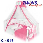 Детский постельный комплект (8ед) Twins - Comfort Горошки 4 цвета