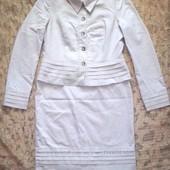 Шикарный костюм юбка пиджак М Л