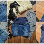 Идеальная джинсовая юбка для беременных, р-р Л-ХЛ