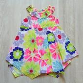 Яркое асимметричное платье для маленькой принцессы. George. Размер 3-6 месяцев