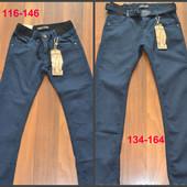 Котоновые брюки для мальчиков-подростков. 116-164. Венгрия.