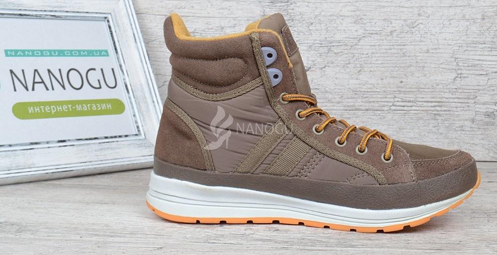 c4a73530a Ботинки замшевые restime женские коричневые на шнуровке jazz, цена ...