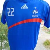 Фирменная футбольная футболка Adidas Зб Франции Рибери .s-m.