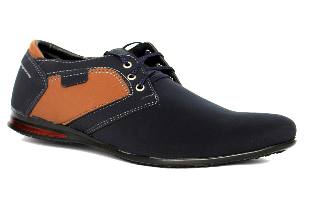 43 р Мужские стильные туфли - мокасины синие (БМ-01Вс) фото №1