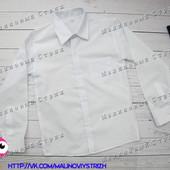 Белая рубашка на мальчика 7 8 9 10 лет, хлопок, Турция, 122 128 134 140 размер классическая рубашка