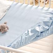 Белый и голубой наматрасник на детскую кроватку, 60х120, TCM, tchibo