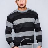 Полосатый мужской свитер 50, 52