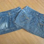 Джинсовые мини юбки 27 /28 xs s