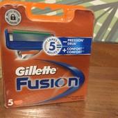 Оригинальные  Лезвия Gillette Fusion 5шт/уп.