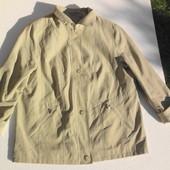 Короткий куртка плащ на молнии и пуговицах. Германия. размер: 46 / 18 / XXXL