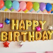 """Фольгированные шары - буквы """"happy birthday"""" Набор 13шт."""
