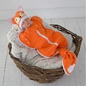 Безразмерная пеленка кокон на молнии Каспер, Лиса