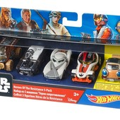 Hot Wheels - Star Wars Heroes of the Resistance 5 pack set - exclusive vehicle