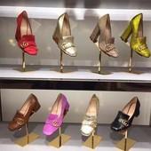 Туфли Gucci на устойчивом каблуке