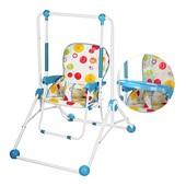 Качели детские Q01-PVC-4. Трасформируется в стульчик для кормления!