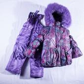 Зимняя курточка+ камбинизон 92- 110 рост